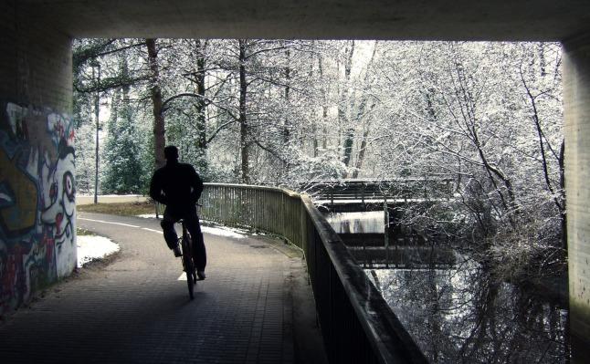 Tunnelblick mit Radler