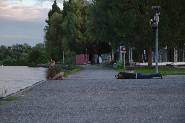 Fotoshoot an der Grenze