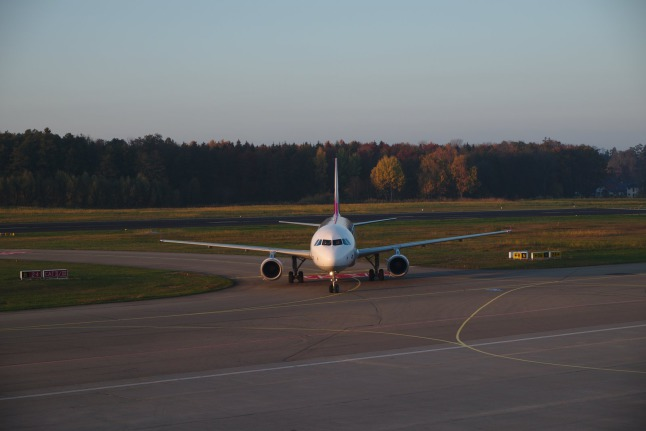 A320 nach der Landung