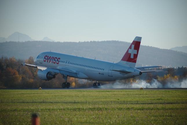 SWISS A320 mit Bodenkontakt (HB-JLS)