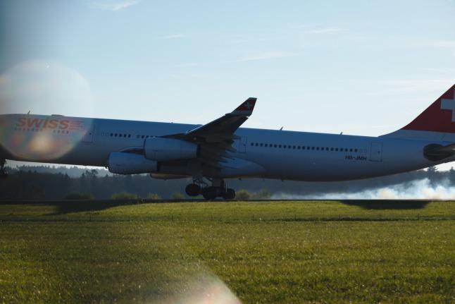 Flugzeug zu groß.