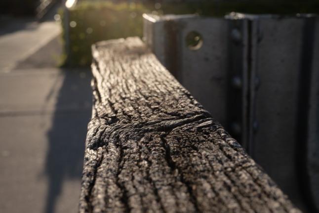 Ausgewaschenes Holz