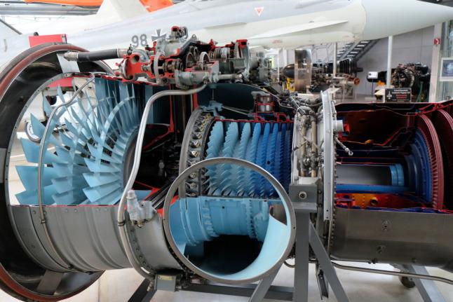 Innerer Aufbau einer Turbine