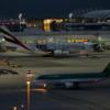A380 mit Eskorte