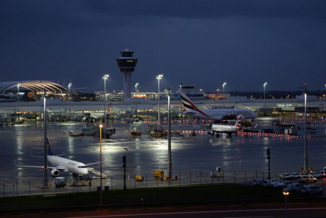 Gute Nacht Flughafen
