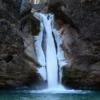 Eisiger Wasserfall